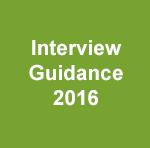 Interview Guidance 2016