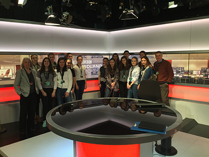 German Exchange students at the BBC