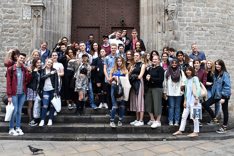 Art students in Barcelona
