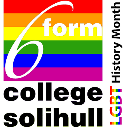 College logo with LGBT+ theme
