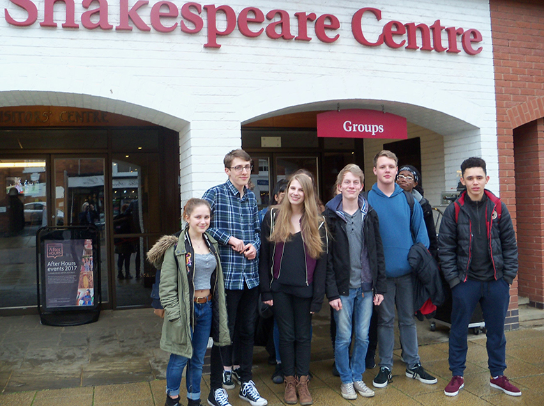 Drama students in Stratford