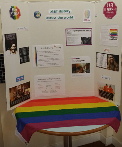 LGBT+ History Month display