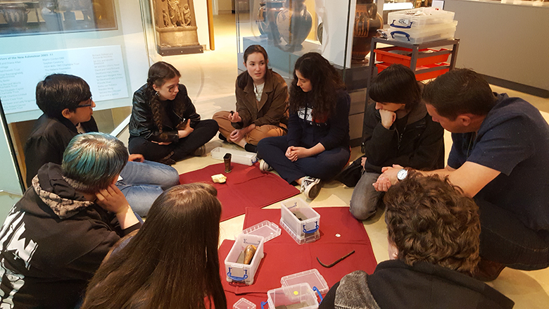 Classics students at the Ashmolean Museum