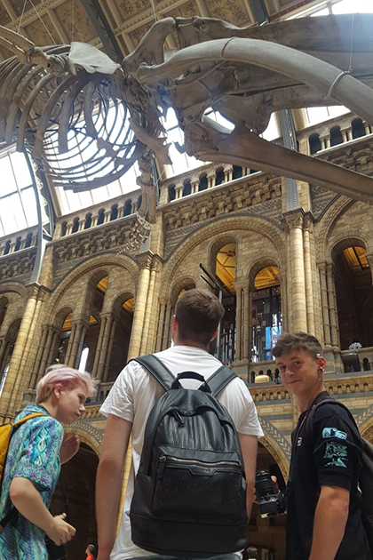 Art students at the National History Museum