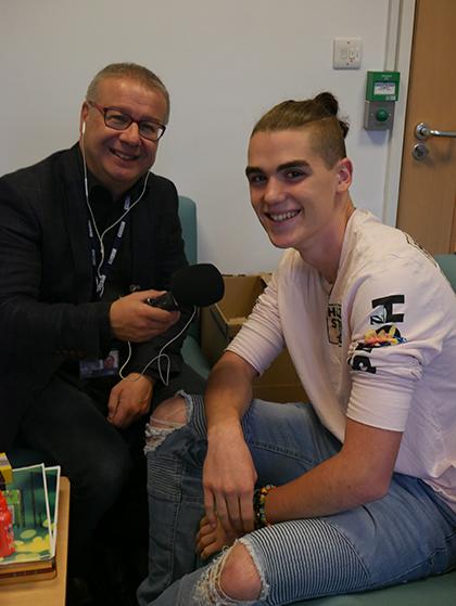 Adrian Goldberg and student Joseph Moss