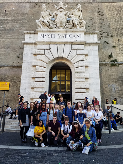 Art students at the Vatican