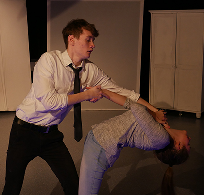 "Drama students perform in ""Crazy Love"""
