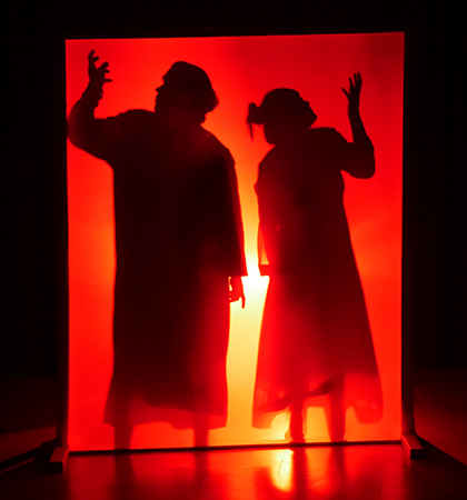 """Scene from """"Salome"""" by Year 12 Drama students"""