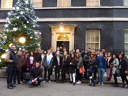 Politics students at Westminster