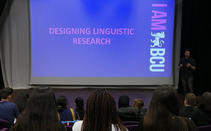 BCU Liguistics Lecture to English Language students