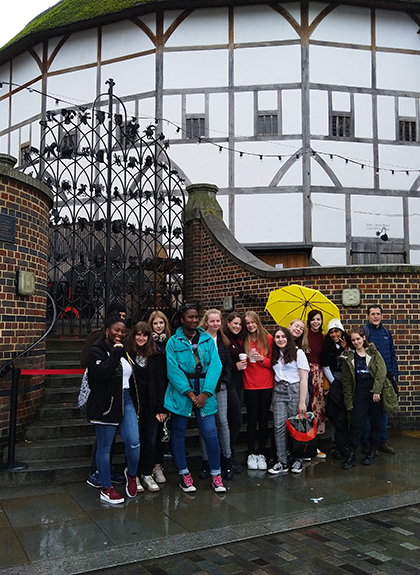 English Language students visit the Globe Theatre in London